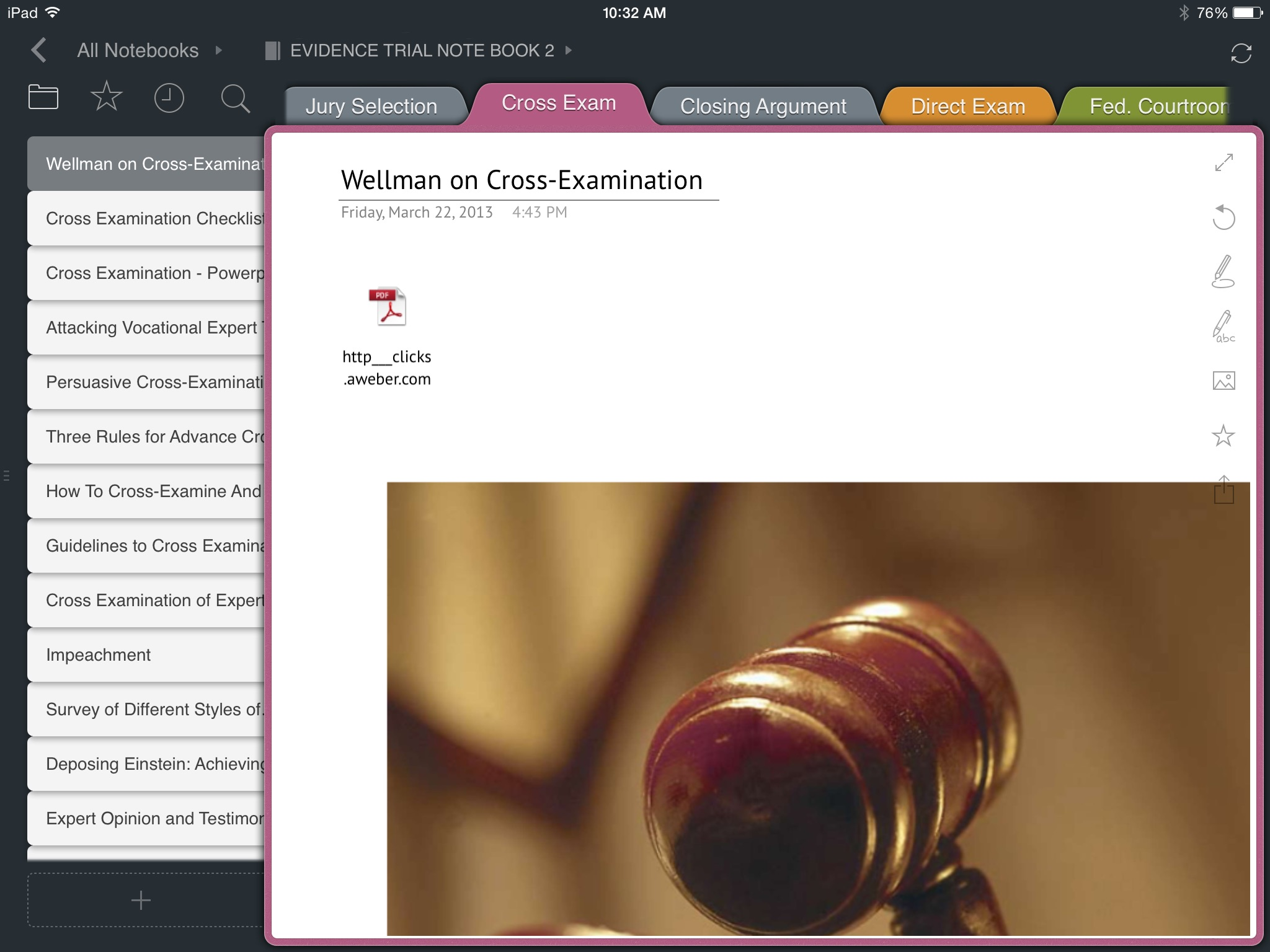 iPad App doubles as a Trial Notebook | The Barrister\'s Toolbox